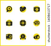 finance icons set with upload...
