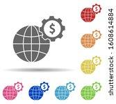 world  gear  dollar  working...