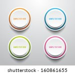 set of four paper banners with... | Shutterstock .eps vector #160861655