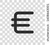 euro symbol  simple icon. black ...