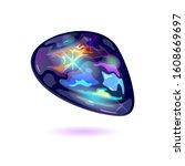 amazing black fire opal.... | Shutterstock .eps vector #1608669697