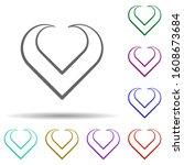 heart hand drawn in multi color ...