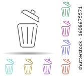 bin multi color style icon....