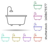bathroom multi color style icon....