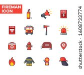 flat icon of fire extinguisher  ...   Shutterstock .eps vector #1608733774