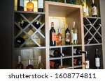 Wooden Wine Rack With Various...