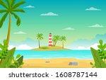 Vacation In Tropical Beach Sea...