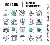 simple set of eco related... | Shutterstock .eps vector #1608807421