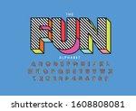 vector of stylized modern font... | Shutterstock .eps vector #1608808081