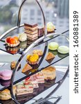 Small photo of A afternoon tea set consisting of a collection of pastries