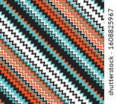 pattern with zigzag colored... | Shutterstock .eps vector #1608825967