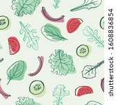 seamless vector pattern with... | Shutterstock .eps vector #1608836854