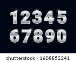 Silver Shiny Numbers Set  Metal ...