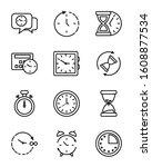 clocks instruments icon set... | Shutterstock .eps vector #1608877534