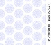 seamless pattern of snowflakes... | Shutterstock .eps vector #1608907114
