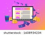 blog money   earn money on... | Shutterstock .eps vector #1608934234