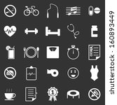 wellness icons on black... | Shutterstock .eps vector #160893449