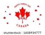 happy family day canada... | Shutterstock .eps vector #1608934777