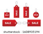 set of sale tags is isolated on ... | Shutterstock .eps vector #1608935194