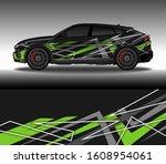 car wrap decal design vector ... | Shutterstock .eps vector #1608954061