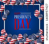 presidents' day. presidents day ... | Shutterstock .eps vector #1608957427