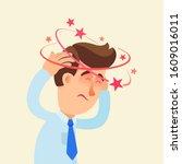 dizziness  feeling ill. young...   Shutterstock .eps vector #1609016011