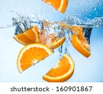 Orange Fruits Fall Deeply Under ...