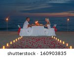 Young Couple Share A Romantic...
