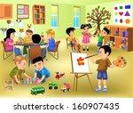 kids doing different activities ...