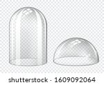 glass dome  clear plastic bell... | Shutterstock .eps vector #1609092064