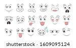 set of emoticon hand drawn...   Shutterstock .eps vector #1609095124