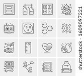 16 universal business icons...   Shutterstock .eps vector #1609097221