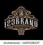 vintage luxury logo template...   Shutterstock .eps vector #1609108237