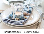 Table Setting In Maritime Styl...