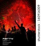 concert poster. vector... | Shutterstock .eps vector #160916309