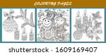coloring pages. coloring book... | Shutterstock .eps vector #1609169407