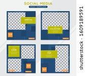 set modern square editable... | Shutterstock .eps vector #1609189591