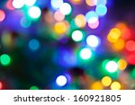 Blurred Fairy Lights Background.