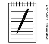pen and writing pad | Shutterstock .eps vector #160922075