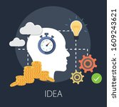 vector illustration of thinking ...   Shutterstock .eps vector #1609243621