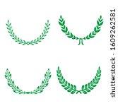 green realistic set of circular ... | Shutterstock .eps vector #1609262581