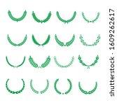 green realistic set of circular ... | Shutterstock .eps vector #1609262617