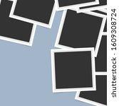 polaroid square photo frames on ... | Shutterstock .eps vector #1609308724