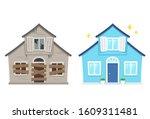 fixer upper home renovation...   Shutterstock .eps vector #1609311481