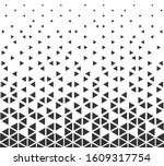 halftone triangle abstract... | Shutterstock .eps vector #1609317754