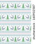 reindeer with christmas trees... | Shutterstock . vector #160932587
