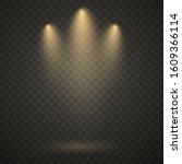 yellow spotlight  bright light  ...   Shutterstock .eps vector #1609366114