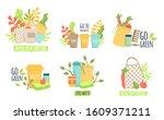 zero waste recycle ecology... | Shutterstock .eps vector #1609371211