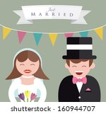 bride and groom close up   Shutterstock .eps vector #160944707