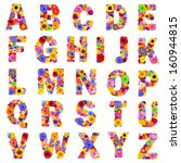 Full Floral Alphabet Isolated...